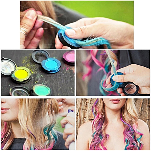 Generic NEW Hair Color Temporary Hair Dye Chalk Compact Candy Color ...