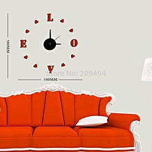 Red Love Decorative Clock