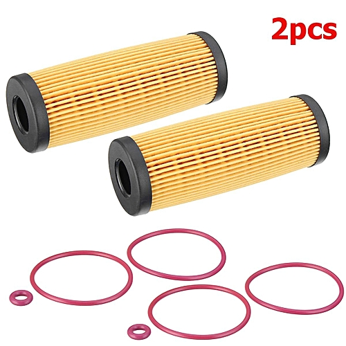 2Pcs Engine Oil Filter with Gasket Kit For Ford Fusion Edge Lincoln  Continental MKX