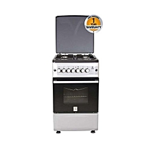 MST55PIAGSL/SD - Standing Cooker, 4Gas Burners, Gas Oven ? Metallic Grey