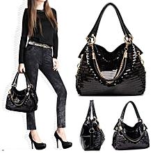 Women Lady Leather Shoulder Bag Bling Glitter Sequins Messenger Handbag Tote HOT