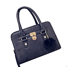 Fohting Women Fashion  Handbag Shoulder Bag Large Tote Ladies Purse BK -Black
