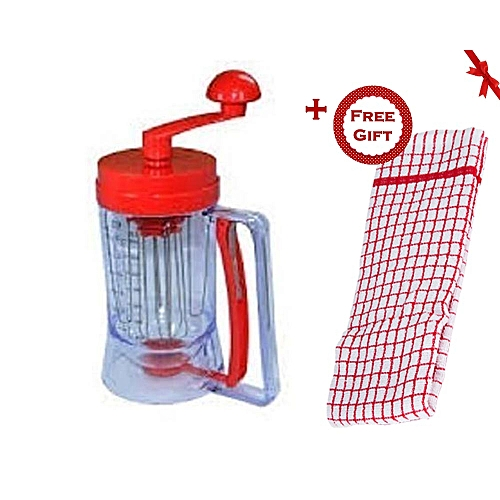 567e2680c23 Timeless Manual Pancake Machine Cake Batter Mix   Dispenser With Measuring  Label -Red and Clear (+ Free Gift Hand Towel).   Best Price