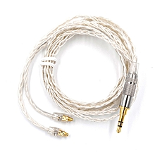 KZ MMCX 3.5mm Earphone Cable Silver Plated Upgrade Wire Universal Diy Music Cable