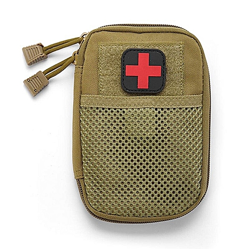 Portable Military First Aid Kit Empty Bag Out Bag Water Resistant For  Hiking Travel Home Car Emergency Treatment(#KK)