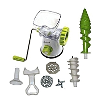5-in-1 Juicer,Meat Mincer,Vegetable Grinder,Paster Maker & Sausage Stuffer - Green & White