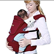 Breathable Hipseat Baby Carrier - Red (upto 18kgs)