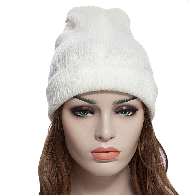 Buy Generic Chic Solid Color Warm Soft Skullies Beanie Knit Cap ... 5630d1decab