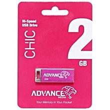 USB Flash Disk Chic - 2GB - Grey