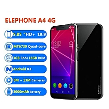 "A4 - 5.85"" 4G 3GB/16GB Android 8.1 OTG Fingerprint 3000mAh EU - Black"
