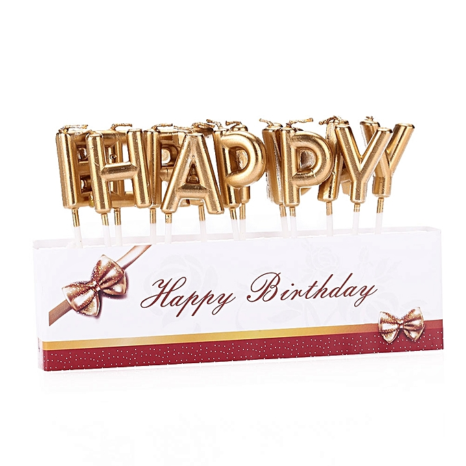 HAPPY BIRTHDAY Candle Birthday Candles Baking Gift Party Supplies Decoration