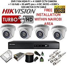 CCTV Security Cameras - 4 Channel kit- 1080p with 1 TB HDD