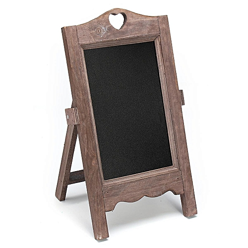 Vintage Chalk Board Blackboard Memo Message Notice Wedding Kitchen 24x35cm Brown