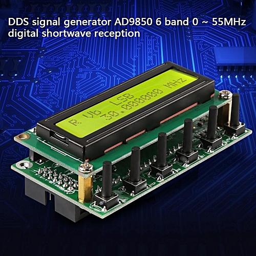 DDS Signal Generator AD9850 6 Bands 0~55MHz Digital continual Shortwave  Radio