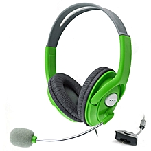 Gaming Headset With Adjustable Microphone For Xbox 360 Durable Game Headphone green