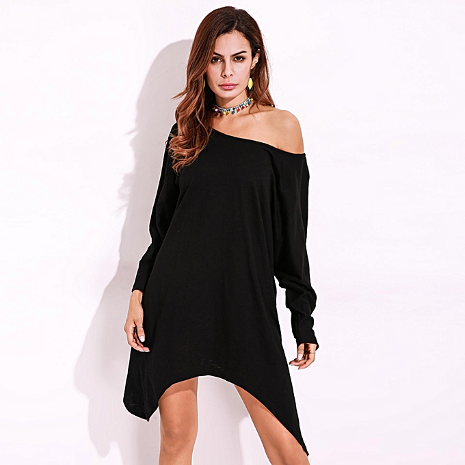 966a69bc2f8a9 ZANZEA Fall Dress Women's Elegant New Solid Color Tunic Casual Party Loose  Short Dresses Long Sleeve