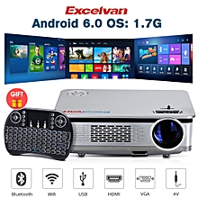 HT60 Home Projector Android 6.0 1080P 3200lm EU - Battleship Gray