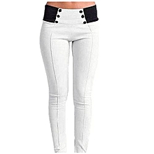 Hight Quality  Black Gray White Women Casual Stretch Skinny Leggings Pencil Pants Slim Trousers XXS-3XL