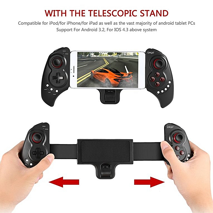 Stretchable Wireless Bluetooth Game Pad Game Controller For iOS For Android  black