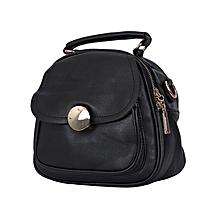 Black PU Leather Ladies Slingbag.