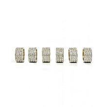 Diamonte Napkin Rings (6 piece set) - Silver