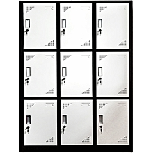 9 Doors clothes lockers wardrobe, Dimension 90*42*185cm