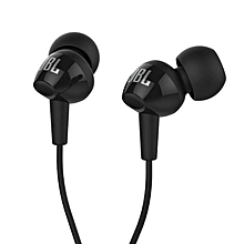 JBL C100SI In-Ear Headphones with Mic (Black)