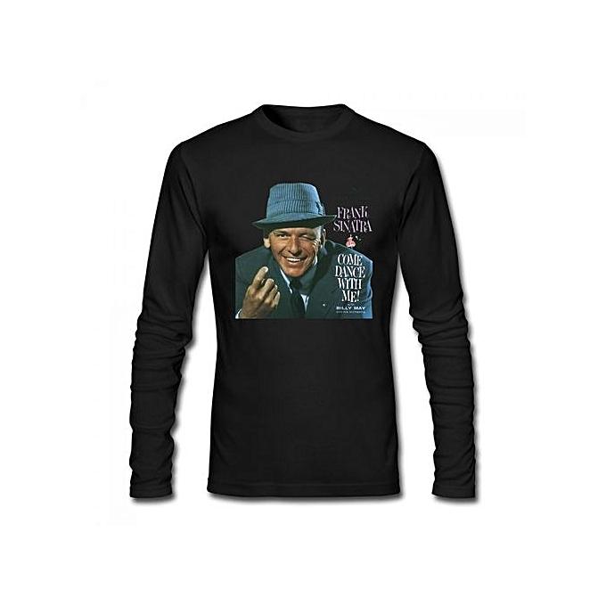 9e6d35fdedd1a1 Frank Sinatra Come Dance With Me Men's Cotton Long Sleeve T-shirt Black