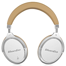 F2 Wireless Bluetooth Headset with Mic - White