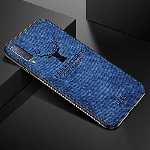 size 40 0bbca ad279 For Note 9 case Cloth Fabric Deer Phone Case For Samsung Soft Silicone Back  Case-Navy