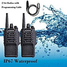 2pc BAOFENG BF-9700 handy 8W UHF IP67 Waterproof ham two way Radio Walkie Talkie