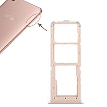 2 x SIM Card Tray + Micro SD Card Tray for Vivo Y71(Rose Gold)