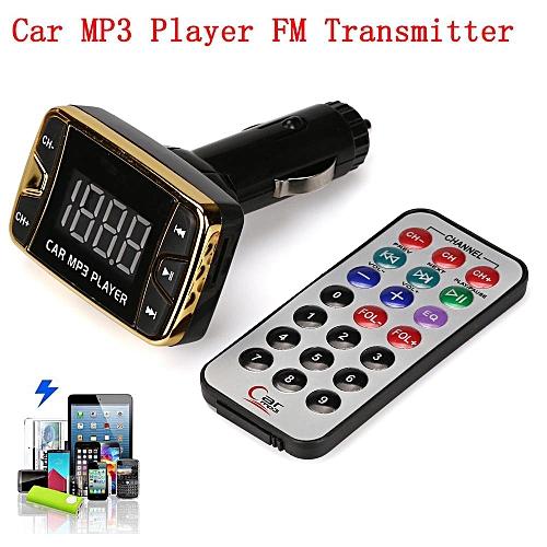 MP3 Player Wireless FM Transmitter Modulator Car Kit USB SD TF MMC LCD  Remote (Black) JOERU
