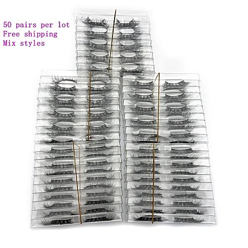 8bbd9626e73 Generic Mikiwi wholesale 50 pairs/pack 3D Mink Lashes No packaging Full  Strip Lashes Mink False Eyelashes custom box Makeup eyelashes(C 0.15mm)