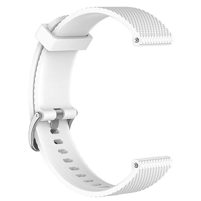 L/S Colorful Plaid Soft Silicone Replacement Strap For Garmin Vivoactive3 Vivomove HR Smart Wristband
