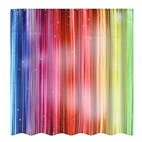 Generic Magic Striped Rainbow Shower Curtains Waterproof Fabric