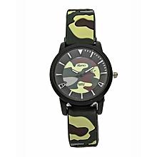 Combat Luminous Green Small Size Rubber Strap Watch