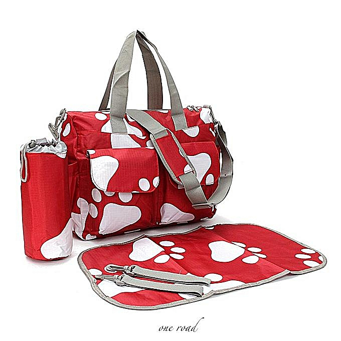 ce6ec194fb7 ... New Waterproof Large Nappy Diaper Bags Changing Bag For Baby Women  Handbag Red ...