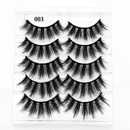 e8cbcf878fa Generic 5pairs Soft Mixed Styles False Eyelashes 3D Mink Hair 1.2~1.5cm long  Wi Natrual Lashes Feathery Flared Variety Pack Lashes(Deep Blue)