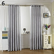 Solid Window Door Room Panel Shade Curtain Drape Blind Valance Home Decor-Grey
