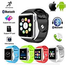 A1 Bluetooth Smart Watch upport Android IOS 1.54 Touch Screen With Remote Camera/Video Recording/anti-lost/Sleep Monitoring Support SIM card (Red) () BDZ