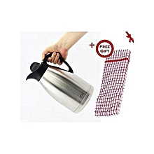 Regal Stainless Steel 2L Thermos Flask+a FREE Kitchen Towel