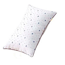 Bed Pillow Pure Fibre -White With Assorted dots
