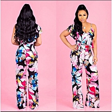 Stylish Ladies Floral Jumpsuit-Sleeveless-Long pant