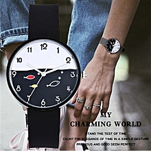 Fohting Vansvar Women's Casual Quartz Leather Band Newv Strap Watch Analog Wrist Watch -Black