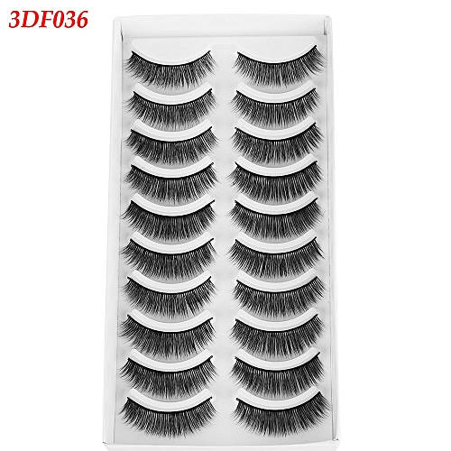 2a1d241b395 Generic NEW 10 pairs Mink Eyelashes 3D Natural False Eyelashes 3d Mink  Lashes Soft EyeExtension Makeup Kit Cilios 100% Wi(2)