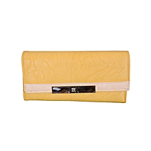 Lady Wallet Multi Card Slot Purse Yellow