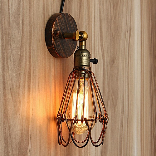 Excellent Generic E27 Loft Metal Retro Vintage Rustic Sconce Wall Fixture Wiring Digital Resources Antuskbiperorg