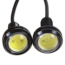 2PCS Ultra-thin Car Eagle Eye LED Day Running Lights Screw Energy Saving Reversing Lamp