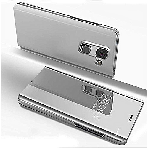 best loved ed77a 972bc Samsung Galaxy J8(2018) Leather Case, Pu Leather Flip Case Cover For  Samsung Galaxy J8(2018) With Stand Function And Plating Mirror - Silver.